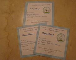 Convite para 1a Comunh�o/Batizado