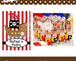 Adesivo tubo de ensaio - Festa Pirata