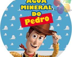 R�tulo Redondo para �gua - Toy Story