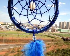 Filtro dos Sonhos Azul com B�zios e Pena