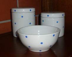 Kit Higiene Beb� Porcelana Banheirinha