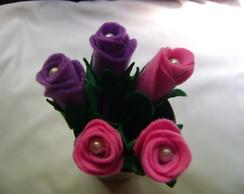 caneta decorada com rosa