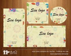 Kit009 com cart�es, tags, etiquetas