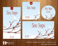 Kit013 com cart�es, tags, etiquetas