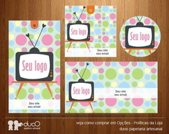 Kit016 com cart�es, tags, etiquetas