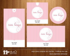 Kit028 com cart�es, tags, etiquetas