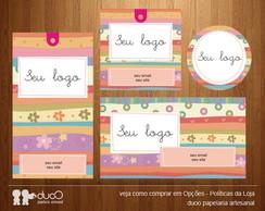 Kit038 com cart�es, tags, etiquetas