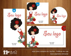 Kit043 com cart�es, tags, etiquetas