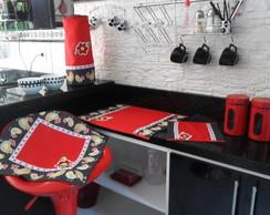 Jogo De Cozinha - galinha no vermelho