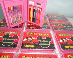 Mini Estojo De Pintura 15 P�s Mickey