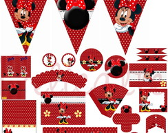 Kit Festa Digital Minnie Vermelha