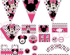 Kit Festa Digital Minnie Rosa
