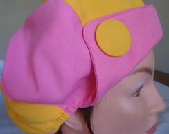 Boina Capricho Rosa/Amarela