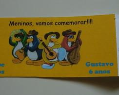 Convite Club Penguin