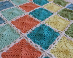 Manta De Crochet Candy