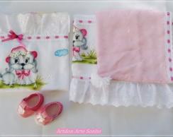 Kit maternidade manta e toalha fralda