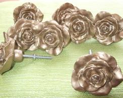 Puxador Rosa Proven�al Dourada