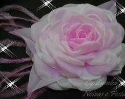 Flores Tingidas em tecido