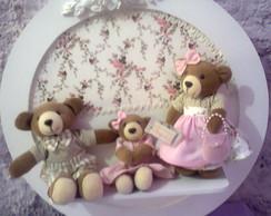 Enfeite Porta Maternidade Fam�lia Urso