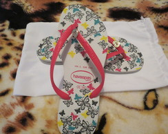Havaianas Slim Butterfly customizada