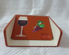 """Porta Guardanapo """"vinho"""""""