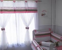 Ref 457 Cortina Rosa e Cac Plissada