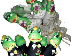 Buqu� de sapos noivos/ sapas noivas