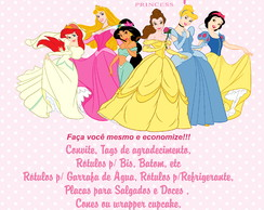 Kit Festa Princesas Disney