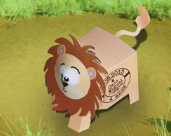 Caixinha Le�o Personalizada para doces