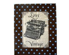 Quadro 26x21 - Love Vintage M�quina