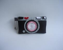 Chaveiro C�mera fotogr�fica em feltro