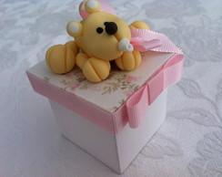 Caixa Personalizada com Ursinho Biscuit