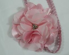 head band MEGA flor rosa