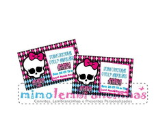Convite 10x15cm Monster High