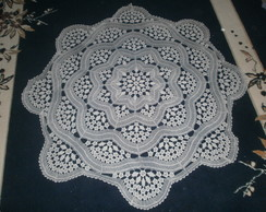 toalha crochet linha fina redonda