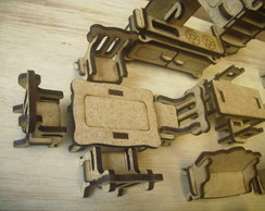 kit moveis miniaturas- 40 pe�as montadas