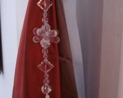 P�ndulo de cortina com fita de veludo