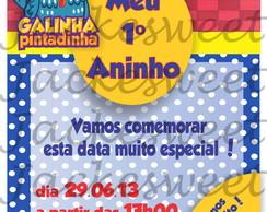 Convite Personalizado - Galinha 01