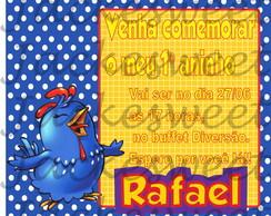 Convite Personalizado - Galinha 02