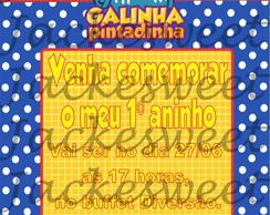 Convite Personalizado - Galinha 03