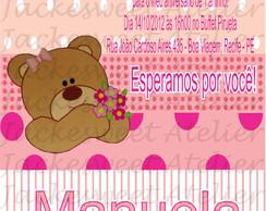 Convite Personalizado - Ursa Rosa