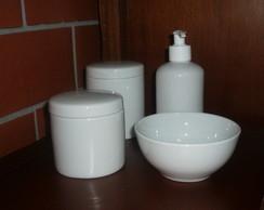 Kit Higiene Beb� Porcelana Alcool Gel