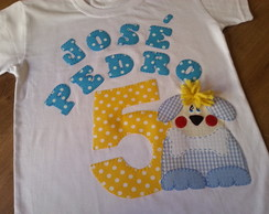 Camiseta cachorrinho Festa Anivers�rio