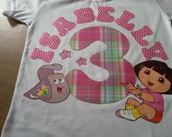 Camiseta Personalizada Dora Aventureira