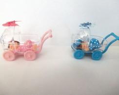 Mini carrinho com beb� biscuit