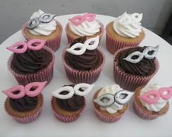 Cupcakes e mini cupcakes m�scara
