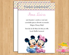 Convite Disney Baby Minnie e Mickey
