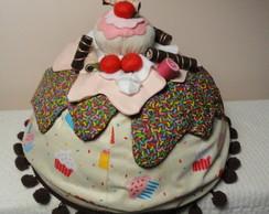 Cobre bolo cupcake