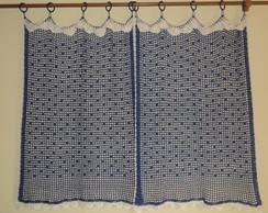 Cortina para janela de Cozinha em croch�