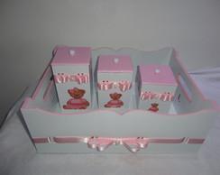 Kit Higiene Beb� - Marrom E Rosa